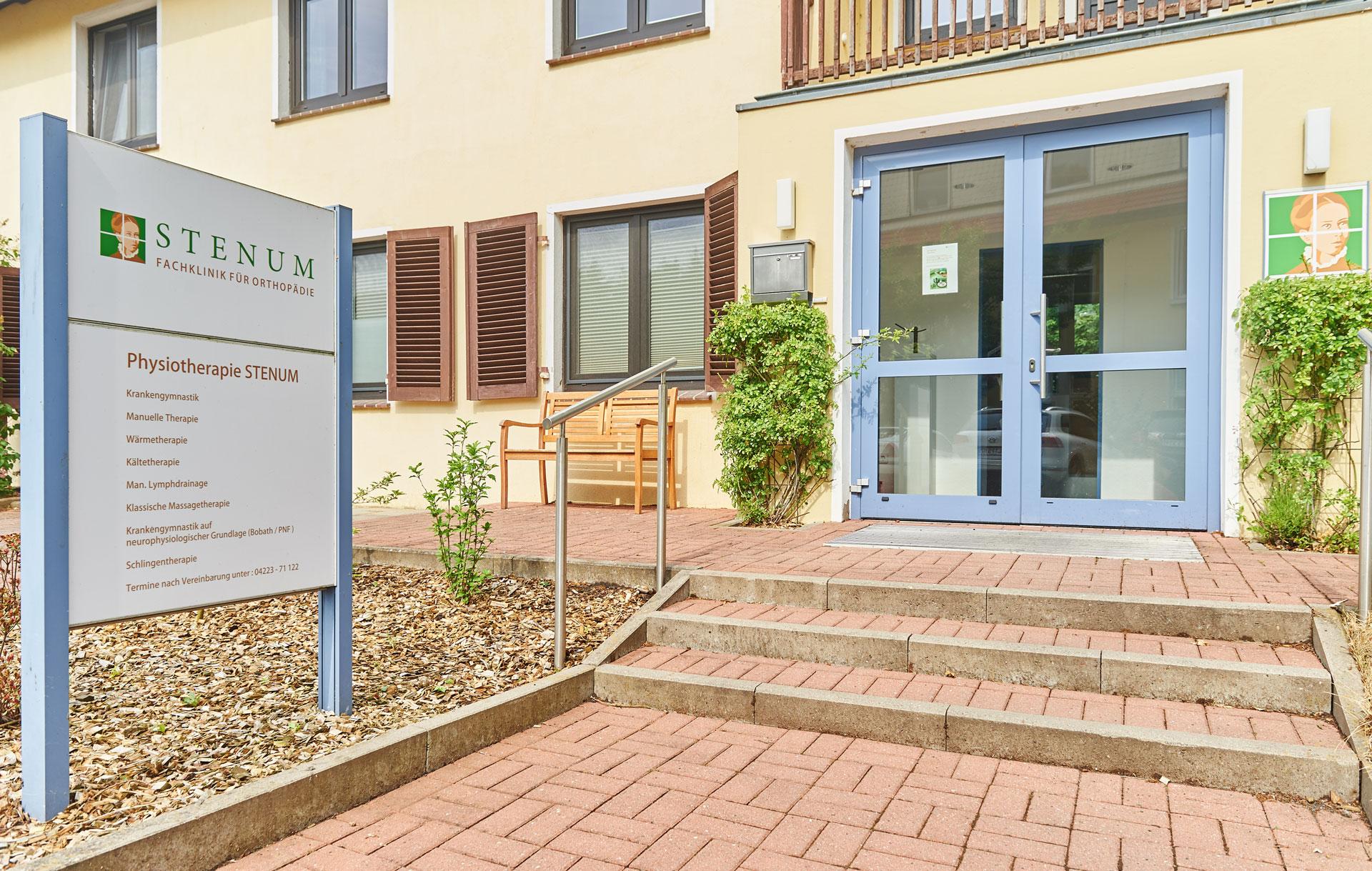 Physiotherapie Eingang - STENUM Fachklinik